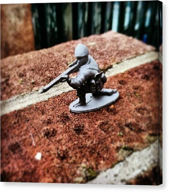 Rifles Canvas Print - #toy #soldier #toysoldier #miniature by Abdurrahman Ozlem