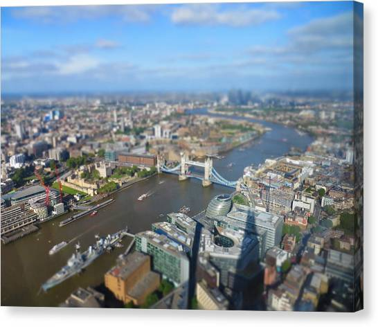 Tower Of London Canvas Print - Toy Town by Peter Bromfield