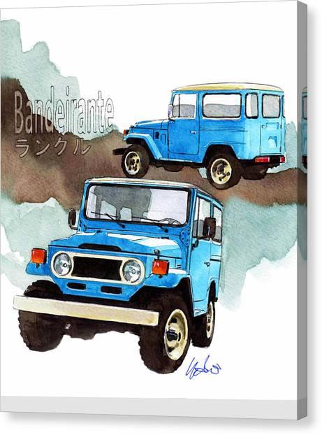 Toyota Canvas Print - Toyota Bandeirante by Yoshiharu Miyakawa