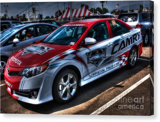 Daytona 500 Canvas Print - Toyota Camry Daytona 500 by Tommy Anderson
