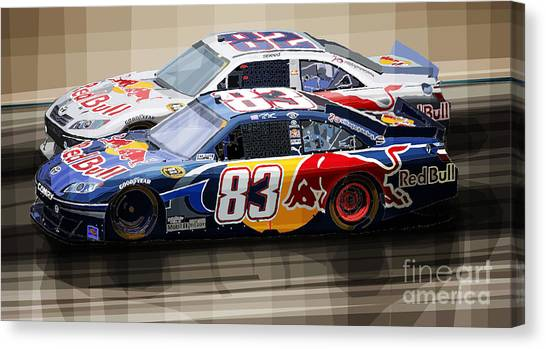 Mixed-media Canvas Print - Toyota Camry Nascar Nextel Cup 2007 by Yuriy Shevchuk