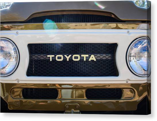 Toyota Canvas Print - Toyota Land Cruiser Grille Emblem  by Jill Reger