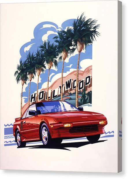 Toyota Canvas Print - Toyota Mr2 Hollywood Hills by Garth Glazier