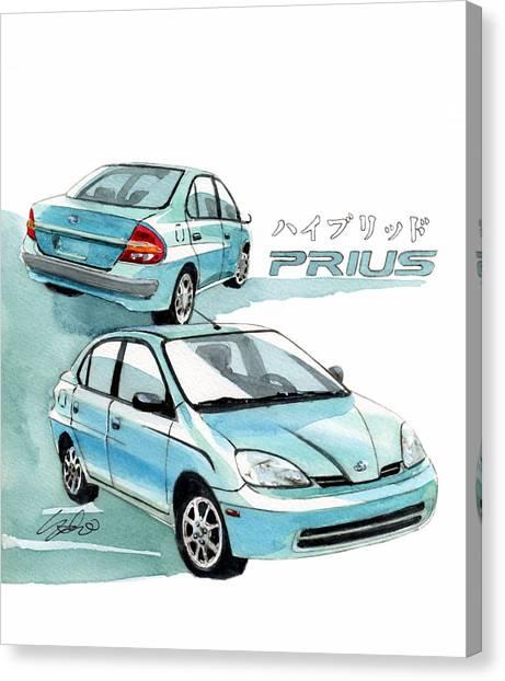 Toyota Canvas Print - Toyota Prius by Yoshiharu Miyakawa