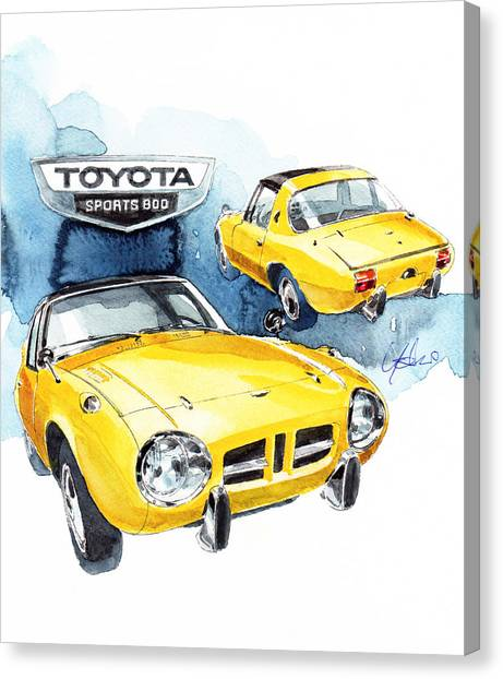 Toyota Canvas Print - Toyota Sports 800 by Yoshiharu Miyakawa