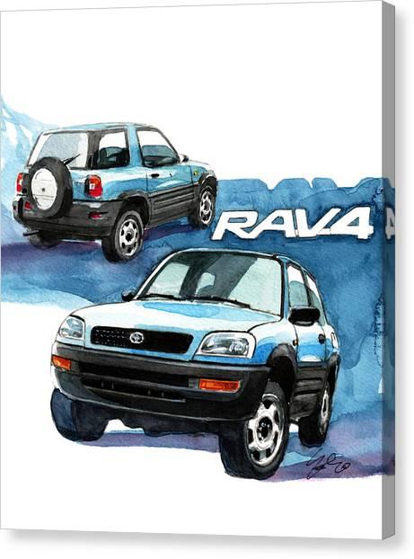 Toyota Canvas Print - Toyota Rav4 by Yoshiharu Miyakawa