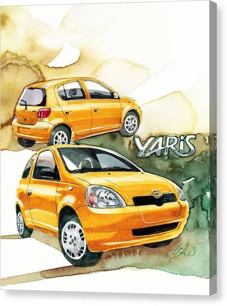 Toyota Canvas Print - Toyota Yaris by Yoshiharu Miyakawa