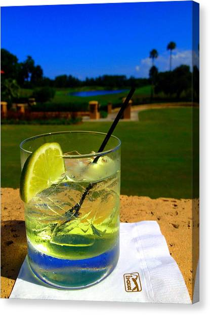 Gin Canvas Print - Tpc Happy Hour by Jaynee Peterson
