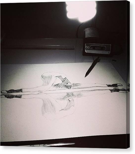 Ballet Canvas Print - Trabalho Numba 2:d #art #artproject by Isabella Costa
