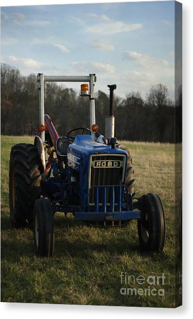 Trac And Field Canvas Print by Zachary Hitchcock