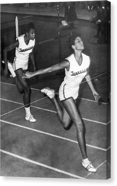 Finish Line Canvas Print - Track Star Wilma Rudolph by Underwood Archives