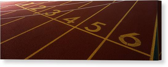 Finish Line Canvas Print - Track, Starting Line by Panoramic Images