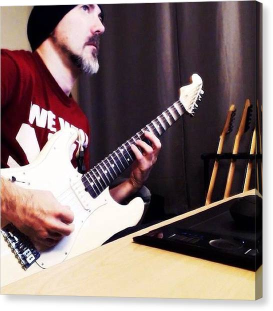 Stratocasters Canvas Print - Tracking Guitars For My Upcoming Ep by Donnie Maynard Christianson