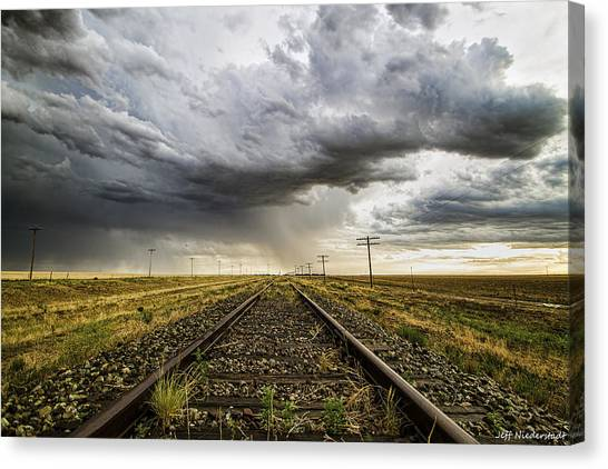 Tracking West Canvas Print