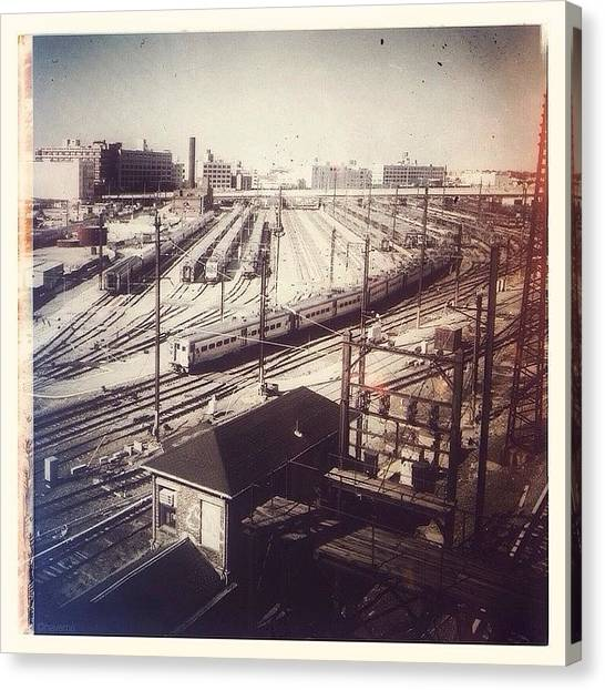 Trains Canvas Print - Tracks & Trains by Natasha Marco