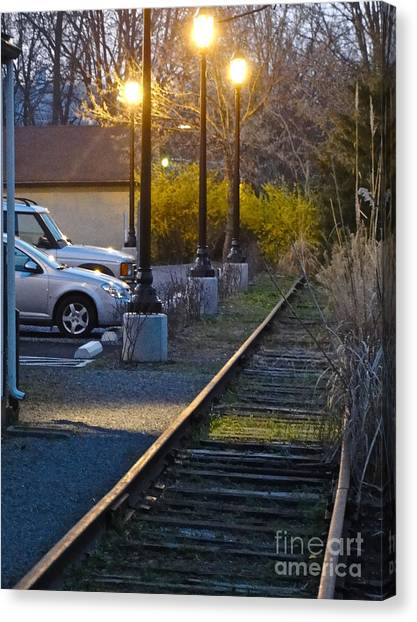 Tracks At Dusk Canvas Print