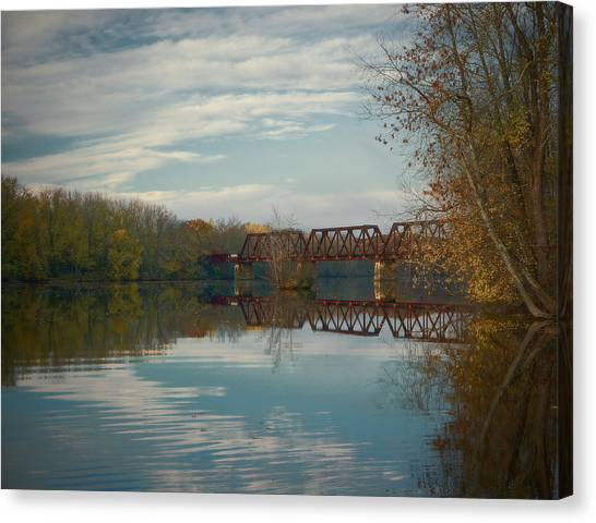 Canvas Print featuring the photograph Tracks Of Autumn by Jeremy McKay