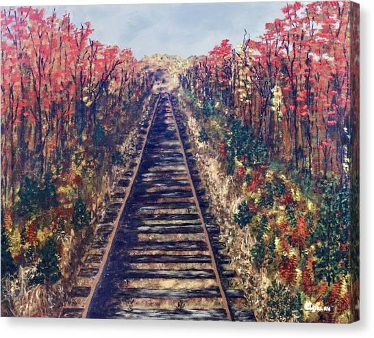 Tracks Remembered Canvas Print