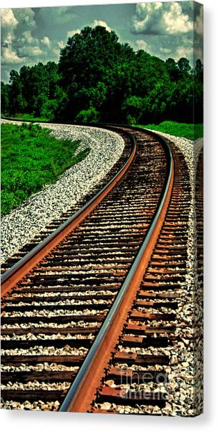 Tracks To Infinity Canvas Print