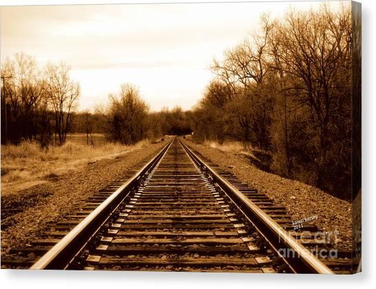 Tracks To No Where Canvas Print