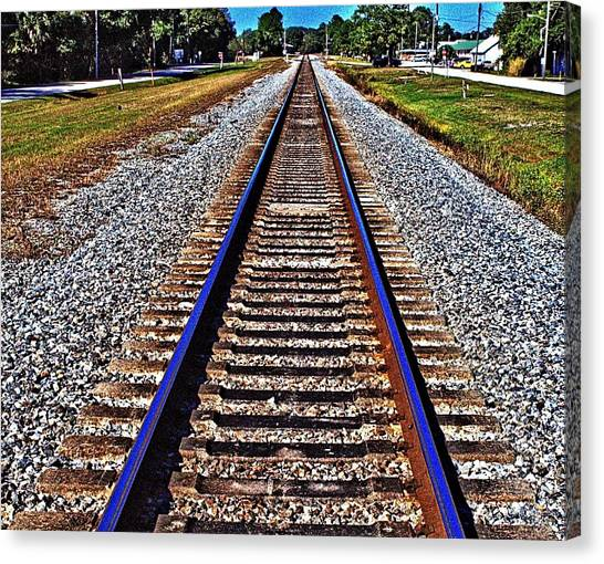 Tracks To Somewhere Canvas Print