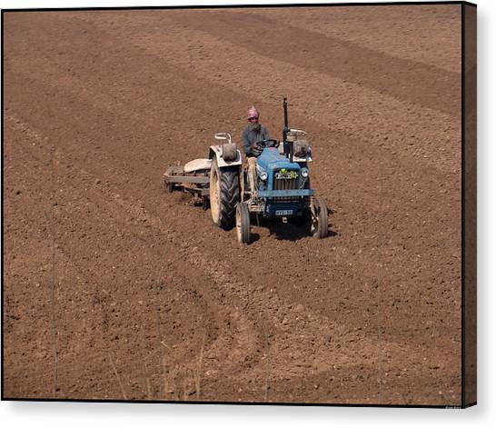 Tractor  Canvas Print by Bliss Of Art