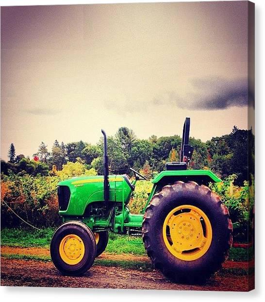 John Deere Canvas Print - Tractor by Kurt