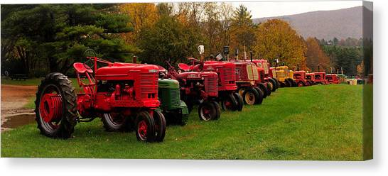 Tractor Lineup Canvas Print by Don Dennis