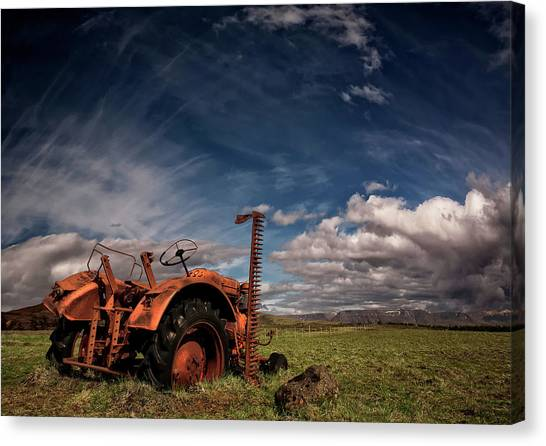 Tractor Canvas Print by ?orsteinn H. Ingibergsson