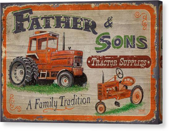 Tractors Canvas Print - Tractor Supplies by JQ Licensing