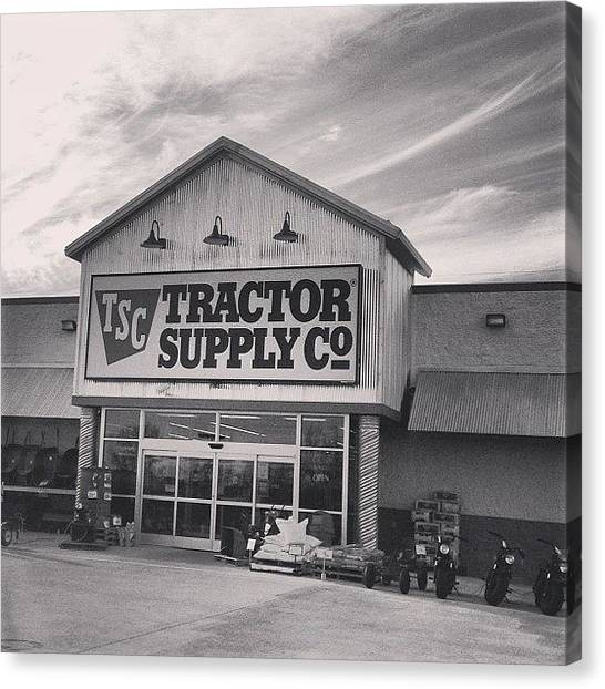 Supplies Canvas Print - Tractor Supply Store by Kay Pickens