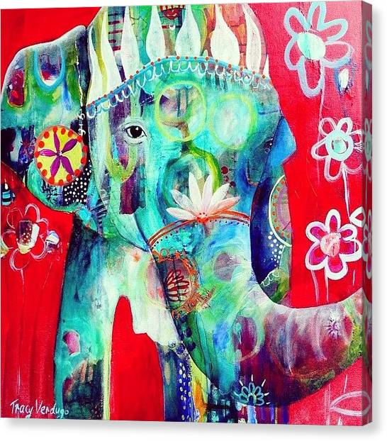 Animals Canvas Print - Bringer Of Joy. 2013 by Tracy Verdugo