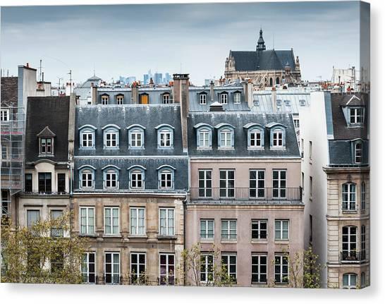Traditional Buildings In Paris Canvas Print