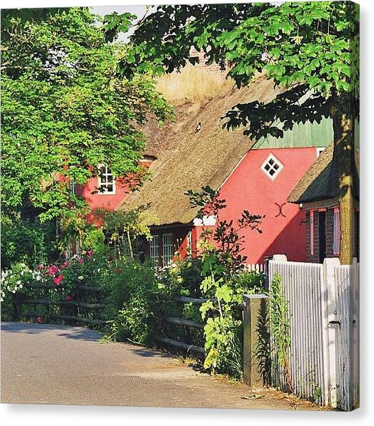 Metallic Canvas Print - Traditional Danish House by Tony Webb