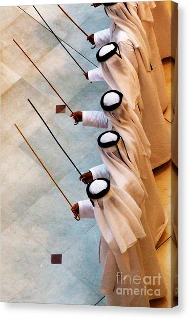 Traditional Emirati Men's Dance  Canvas Print