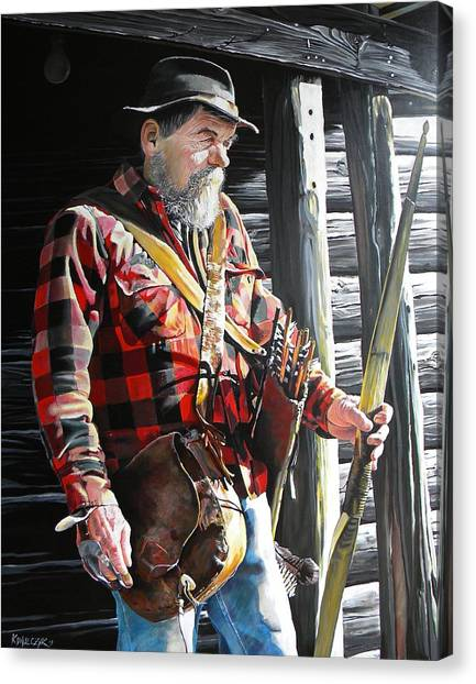 Woodsmen Canvas Print - Traditional by Matt Kowalczyk