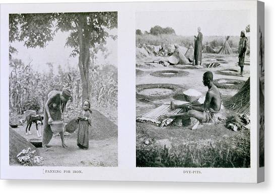 Nigeria Canvas Print - Traditional Nigerian Industry by Schomburg Center For Research In Black Culture/new York Public Library