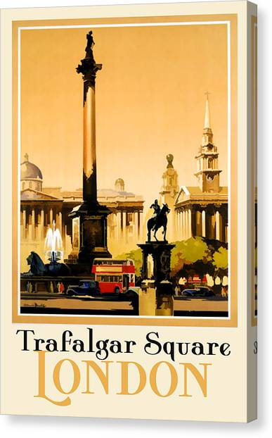 Royal Guard Canvas Print - Trafalgar Square - London by Georgia Fowler