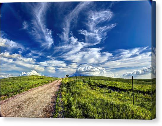 Trail Drive Road Canvas Print