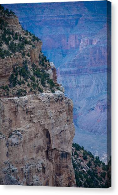 Trail On The Edge Canvas Print by Nickaleen Neff