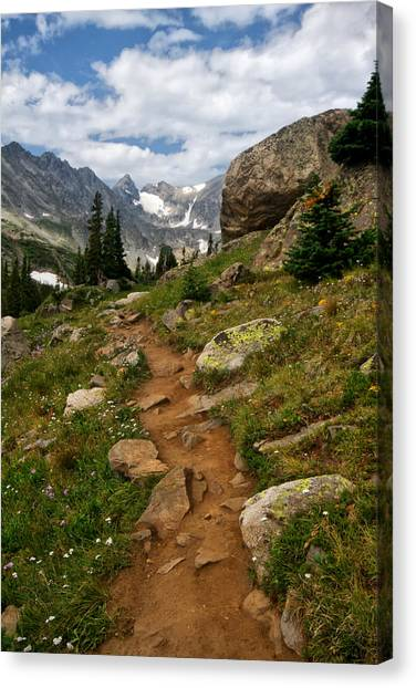 Trail To Lake Isabelle Canvas Print