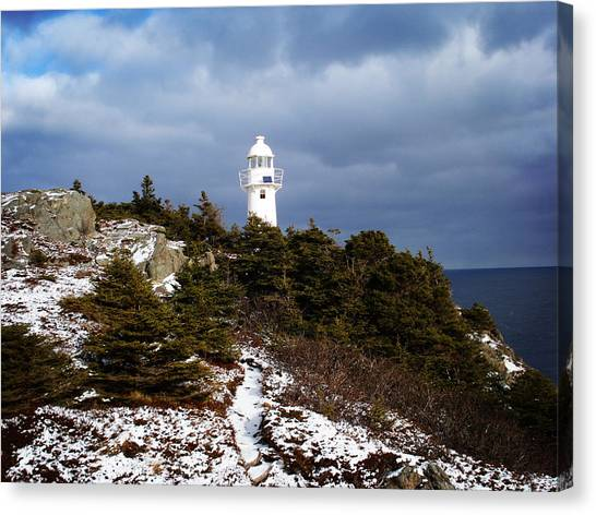 Trail To The Lighthouse Canvas Print