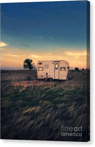 Trailer At Dusk Canvas Print