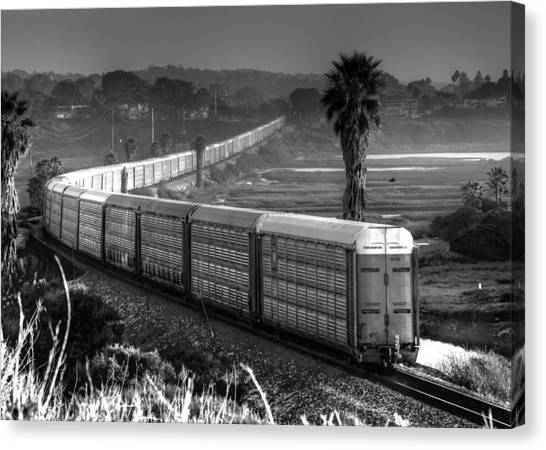 Train At San Elijo Lagoon Canvas Print