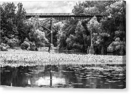 Canvas Print featuring the photograph Train Bridge by Garvin Hunter