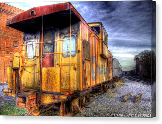 Train Caboose Canvas Print