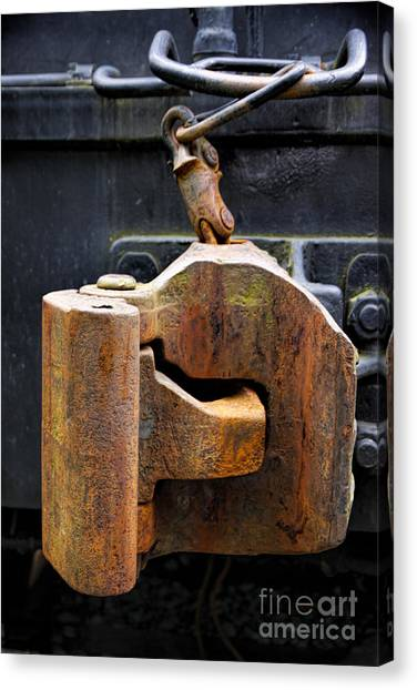 Train Car Coupler Canvas Print
