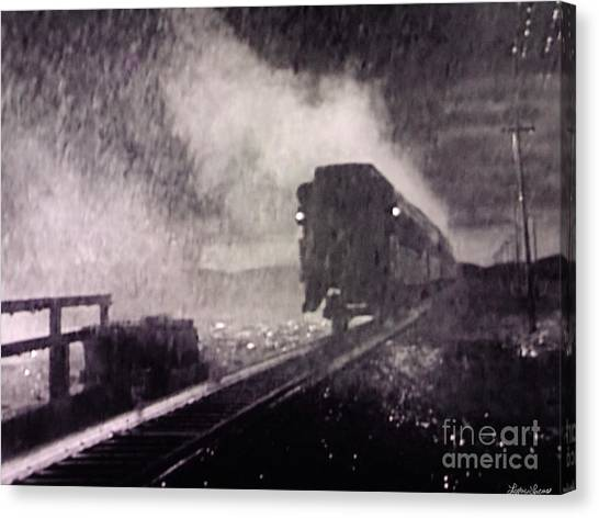 Train Departing Canvas Print