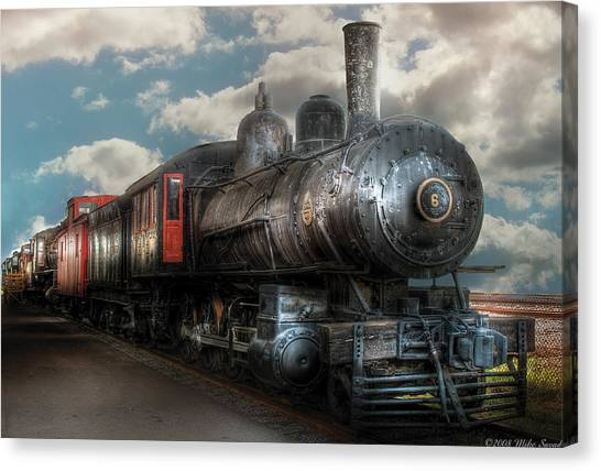 Train Conductor Canvas Print - Train - Engine - 6 Nw Class G Steam Locomotive 4-6-0  by Mike Savad