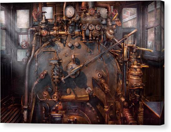 Train - Engine - Hot Under The Collar  Canvas Print
